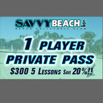1 Player 5 Lesson Private Pass